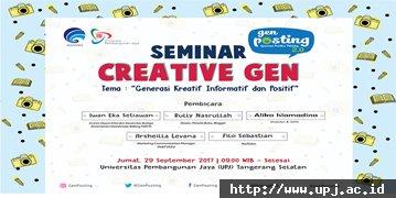 Seminar Creative Gen