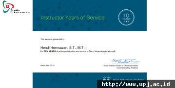 Dosen Informatika Raih Penghargaan dari Cisco Networking Academy